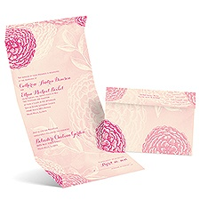 Dazzling Zinnias Ecru Seal and Send Wedding Invitation