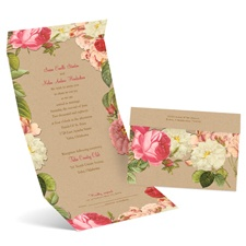 Vintage Blooms Seal and Send Wedding Invitation