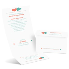 Funky Hearts Seal and Send Wedding Invitation