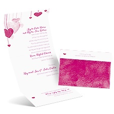 Suspended Hearts Seal and Send Wedding Invitation
