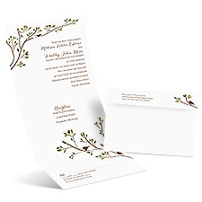 Spring Birds Seal and Send Wedding Invitation
