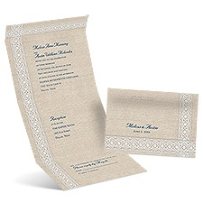 Modern Country Seal and Send Wedding Invitation