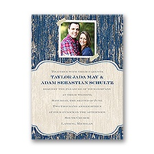 Worn Wood Petite Wedding Invitation