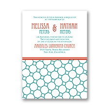 Chic Patterns Petite Wedding Invitation