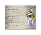 Pretty Pansies - Reception Card