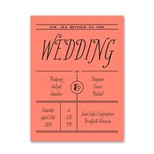 Simple Typography Petite Wedding Invitation