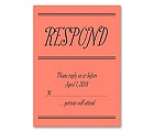 Simple Typography - Response Card