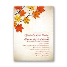 Maple Treasures Petite Wedding Invitation
