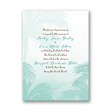 Tropical Haze Petite Wedding Invitation