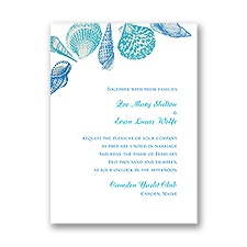 Sea Love Petite Wedding Invitation