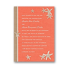 Starfish and Linen Petite Wedding Invitation
