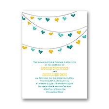 Lovely Garland Petite Gold Wedding Invitation