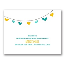 Lovely Garland - Reception Card