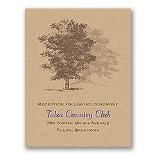 Country Roots - Reception Card
