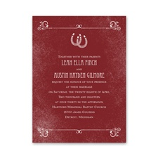 Linked Horseshoes Petite Wedding Invitation