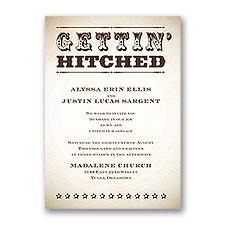 Let's Get Hitched Wedding Invitation