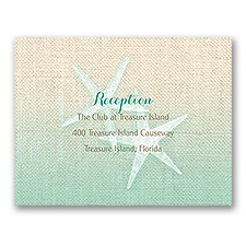Starfish and Burlap - Reception Card