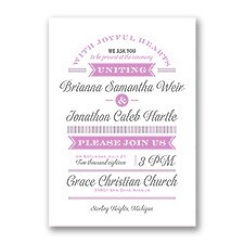Be Joyful Wedding Invitation