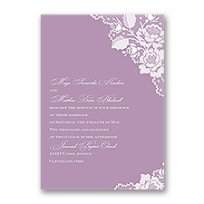 Corner Lace Wedding Invitation