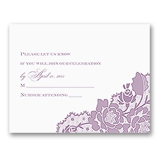 Corner Lace - Response Card
