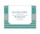 Elegant Patterns - Reception Card