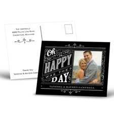 Oh Happy Day - Thank You Postcard