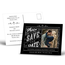 Pretty Please - Save the Date Postcard