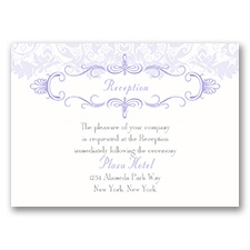 Crest & Flourish - Reception Card