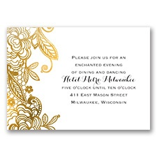 Gold Lace - Reception Card