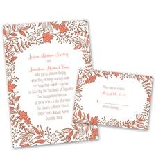 Leaf Menagerie Wedding Invitation with Free Response Postcard