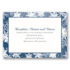 Winter's Wonders - Reception Card