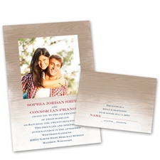 All Natural Wedding Invitation with Free Response Postcard