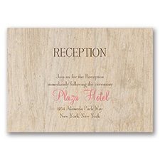 Rustic - Reception Card