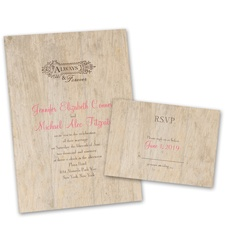 Rustic Choose Your Design Wedding Invitation with Free Response Postcard