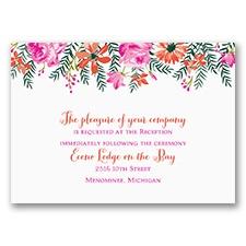 Watercolor Floral - Reception Card