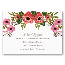 Blooming Beauty - Reception Card