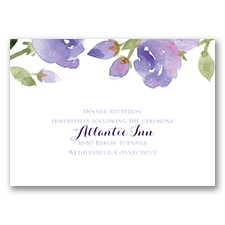 Within Reach - Lavender - Reception Card