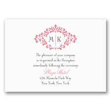Pretty Flourish - Reception Card