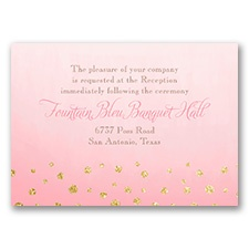 Gold Dust - Faux Glitter - Reception Card
