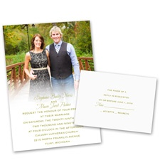 Sweet and Simple Wedding Invitation with Free Response Postcard