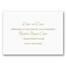 Sweet and Simple - Reception Card