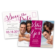 She Said Yes - Photo Save the Date Postcard