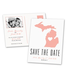 State of Love - Photo Save the Date Postcard