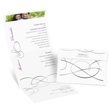Swirling Beauty Seal and Send Wedding Invitation