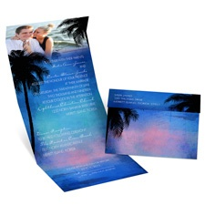 Tropical Paradise Seal and Send Wedding Invitation