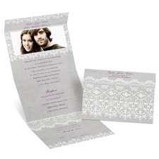 Rustic Lace Seal and Send Wedding Invitation