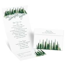 Watercolor Pines Seal and Send Wedding Invitation