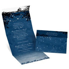 Starry Night Seal and Send Wedding Invitation