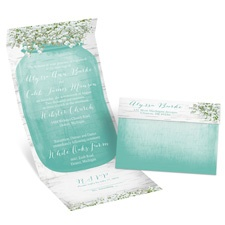Baby's Breath Seal and Send Wedding Invitation