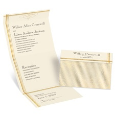 Gold Borders Choose Your Design Ecru Seal and Send Gold Wedding Invitation